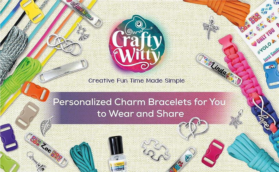 personalized charm  paracord bracelets friendship craft kit