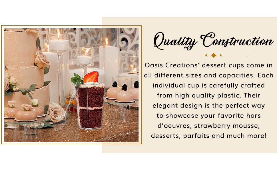 Our dessert serving cups are of premium quality
