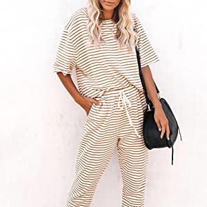 Short Sleeve Pullover with Pants Sets