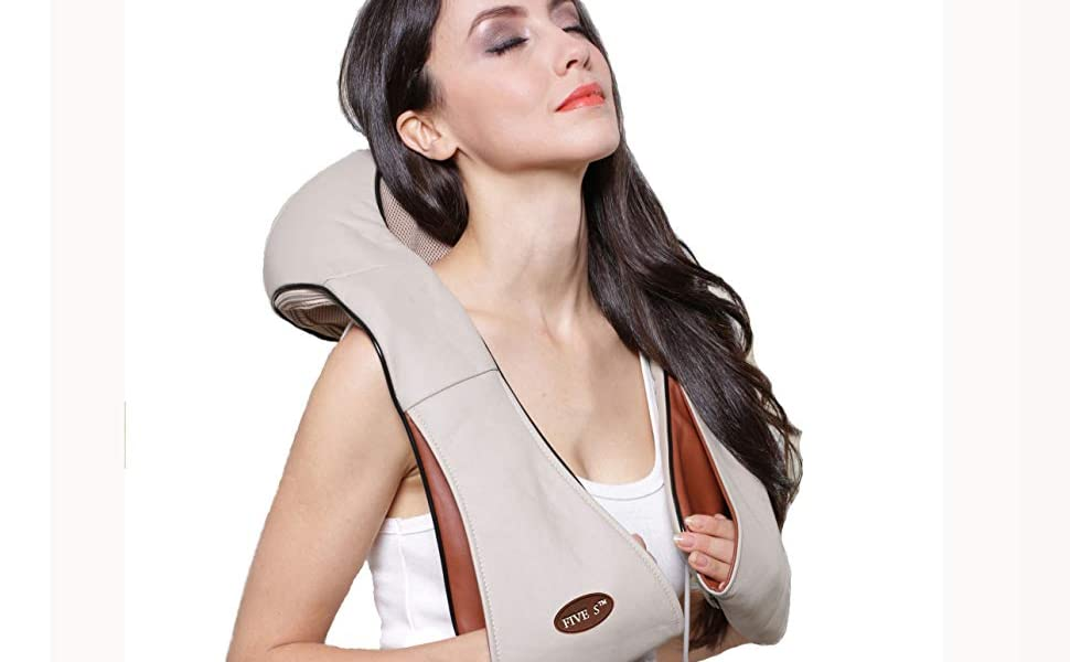 Back Massager with Heat Deep Kneading Massage