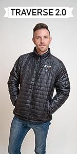 venture heat men's heated puffer jacket
