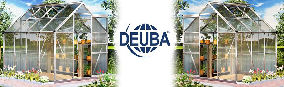 Deuba Invernadero de policarbonato Transparente con tragaluces y Base 7, 6m³ Jardín huerto Cultivo de Plantas Verduras: Amazon.es: Jardín