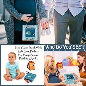 Christmas gift baby shower gift cloth book birthday gift for boys girls toddlers infant gift box toy