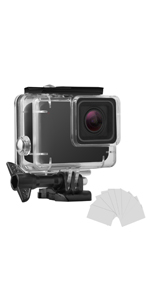 waterproof case for GoPro Hero 7 white and silver
