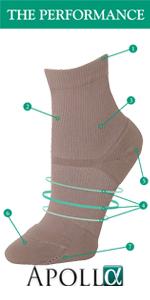 Performance Apolla Shock, crew style compression sock, Apollo