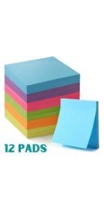 Mr. Pen- Sticky Notes, Sticky Notes 3x3 inch, 12 Pads, Sticky Note, Pop up Sticky Notes