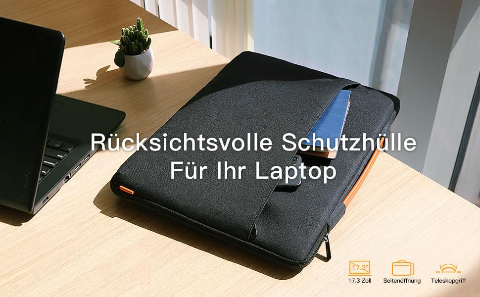 Inateck 17 Zoll Laptoptasche Hülle Wasserdicht Notebook Computer Zubehör