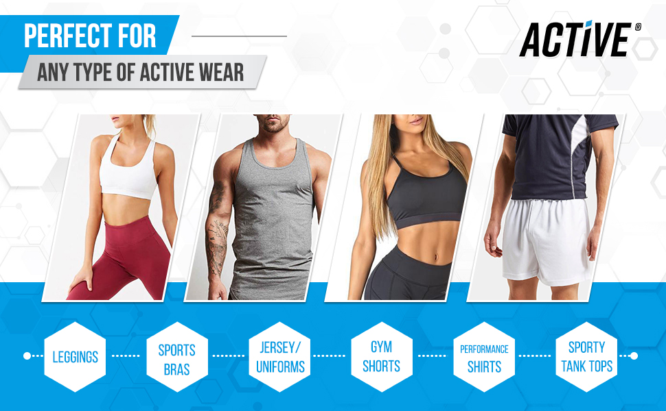 perfect for any type of active wear