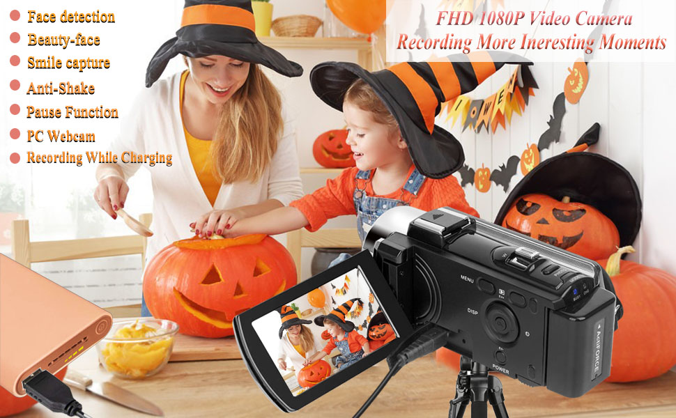Video Camera Camcorder for YouTube Vlogging Digital Camera Full HD 1080P 15FPS 24MP Camcorder Webcam