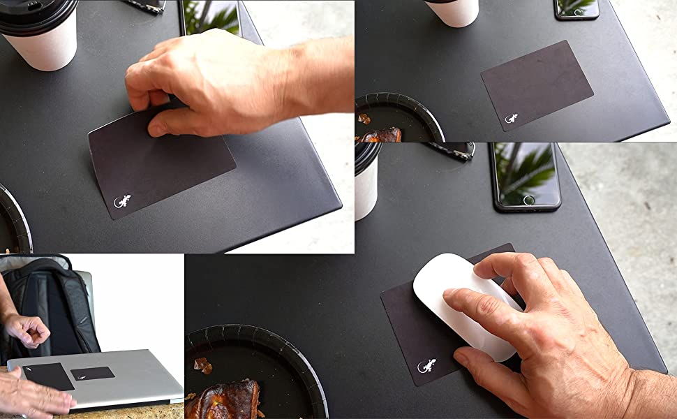 mouse pad adhesive bottom, no residue stick, soft microfiber top for mouse pads tracking any surface