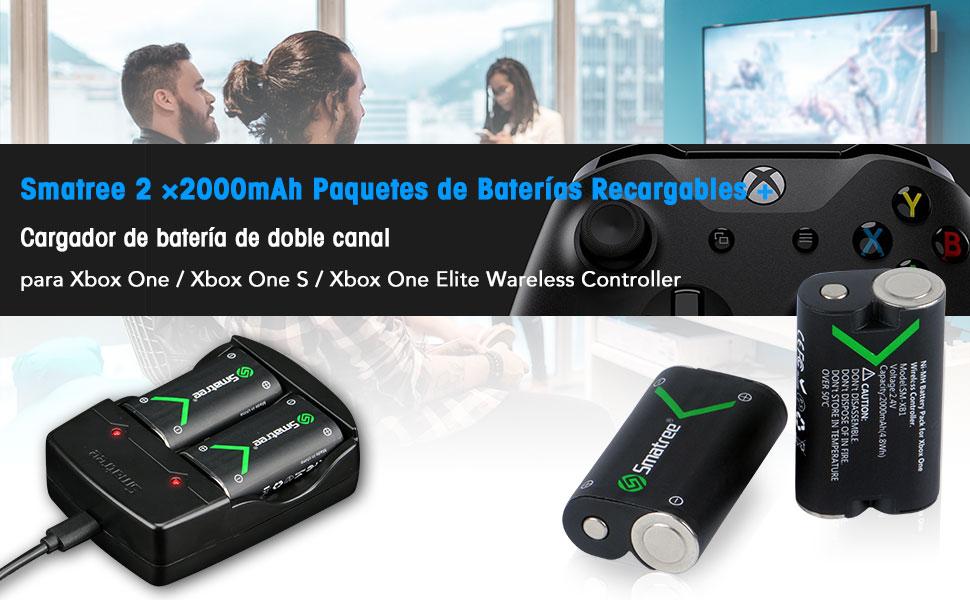 Smatree Batería de Controlador Xbox One, Batería Recargable ...