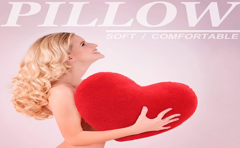 Plush Pillow Heart Shape Cushion Throw Pillows