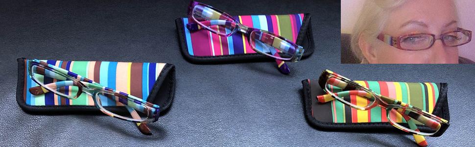 23 scelte di colore//in tessuto-Handmade Tartan Occhiali da lettura//Occhiali da sole caso