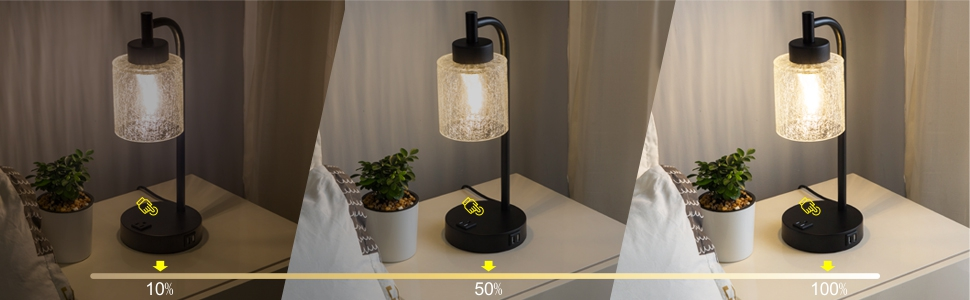 Three Brightness Level--- Touch Lamps