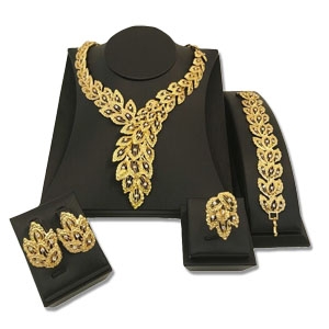 Africa jewelry sets gold plated