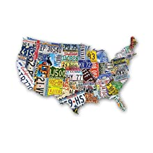 USA License Plate Map 1000 Piece Jigsaw Puzzle in the Shape of the on license plate world map, map usa map, color usa map, leapfrog interactive united states map, flag usa map, basketball usa map, baseball usa map, paint usa map, golf usa map, motorcycle usa map, driving usa map, decals usa map, watercolor usa map, art usa map, reverse usa map, list 50 states and capitals map, state usa map, time usa map, license plate map art, license plates for each state,