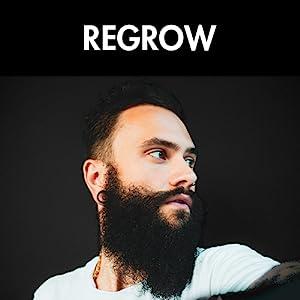 Red-Blooded Rodillo para el Crecimiento de la Barba   Estimular el Crecimiento de la Barba y el Vello   Negro Mate