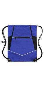 blue wet drawstring bag