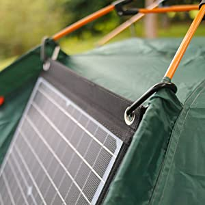 Foldable Solar Panel Charger with QC3.0 USB Type-C 18V DC