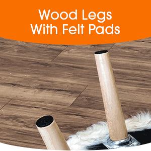 wood leg stool