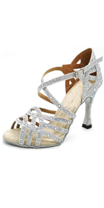 silver dancing shoes