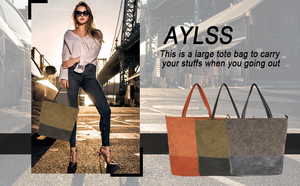 Women's Shoulder Tote Bag Purse Top Handle Satchel Handbag For Women Work School Travel