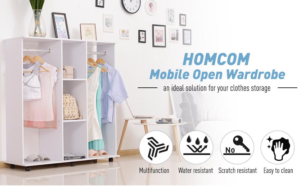 mobile open wardrobe