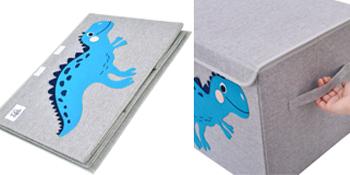 kids toy chest organizer trunk animal canvas