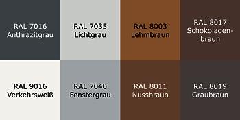A-050 hek-uitwerpbrievenbus beschikbare RAL-kleuren