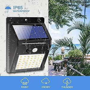 waterproof solar motion sensor light outdoor