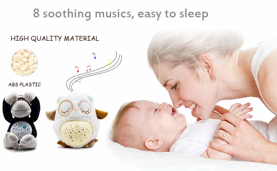 baby sleeping soother sound machine projector sleep aid night light projector baby shower gifts