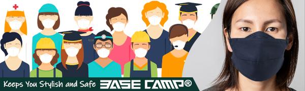 BASE CAMP Cloth Face Mask Reusable Washable