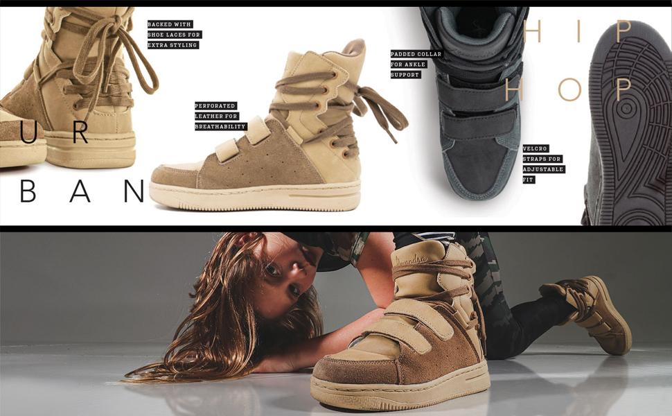 Lace Up Sneakers, Tan Sneakers, Black Sneakers, Velcro Strap Sneakers, High Top Sneakers