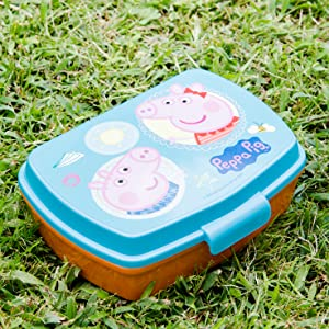 Sandwichera para niños, loncrera infantil de plástico libre de BPA