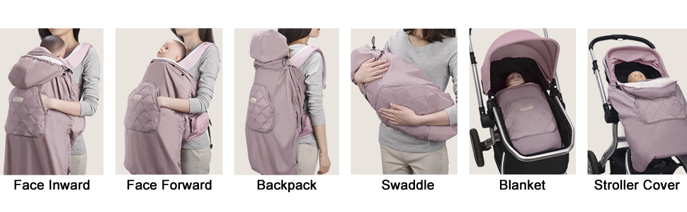 Bebamour Universal Hoodie All Seasons Carrier Cover for Baby Winter Warm Noble