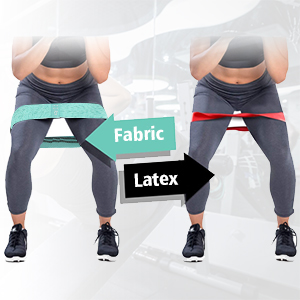 non slip wide heavy durable fabric exercise bands versus rubber resistance bands