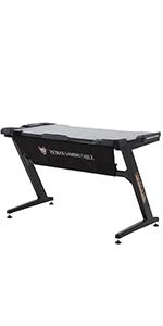 Ficmax black gaming desk