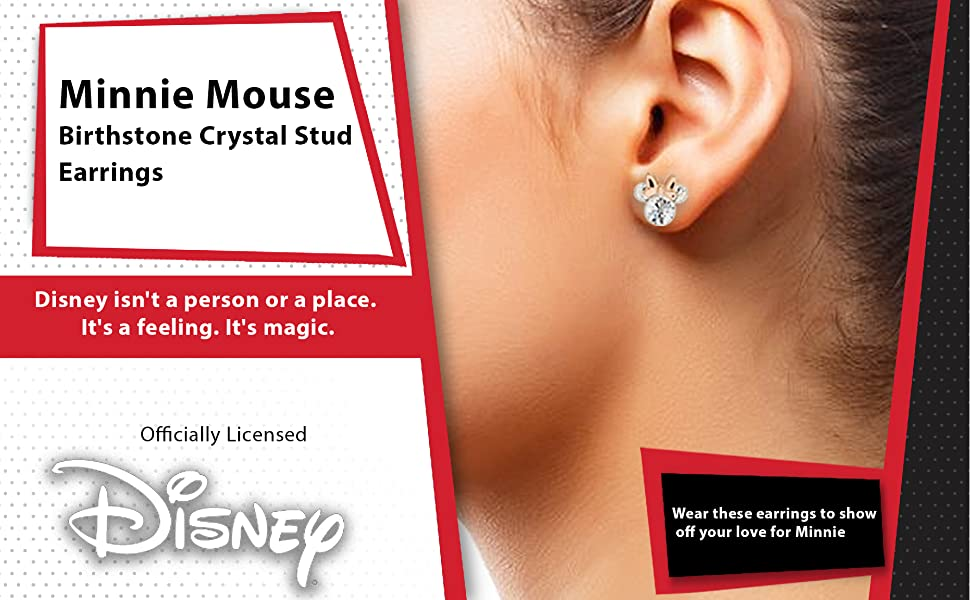 MINNIE MOUSE EARRING SET