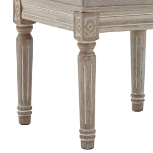 Jaipur Solid Wood Handcrafted Carved Folding Accent Coffee Table Cotton Craft Intricate Detail with Hand Carving 18 Inch Round Top x 18 Inch High Antique Silver and White
