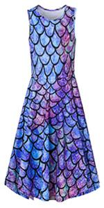 Charming Blue Mermaid Dress