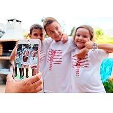camiseta mágica, realidad aumentada, cuerpo humano, juguete educativo, regalo original