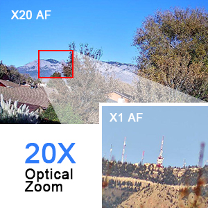 20X Optical Zoom