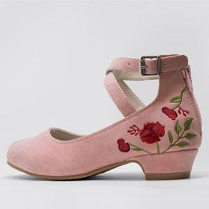 SBO-FUN-03 sobeyo mary jane embroidery girls cute fashion trendy dress shoes heel buckle flowers