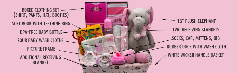 Baby Girl Gift basket Nikki's Gift Baskets