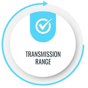 transmitter transmission range 628 ft feet 300ft long wireless scan 2.4 blluetooth bluetooth barcode