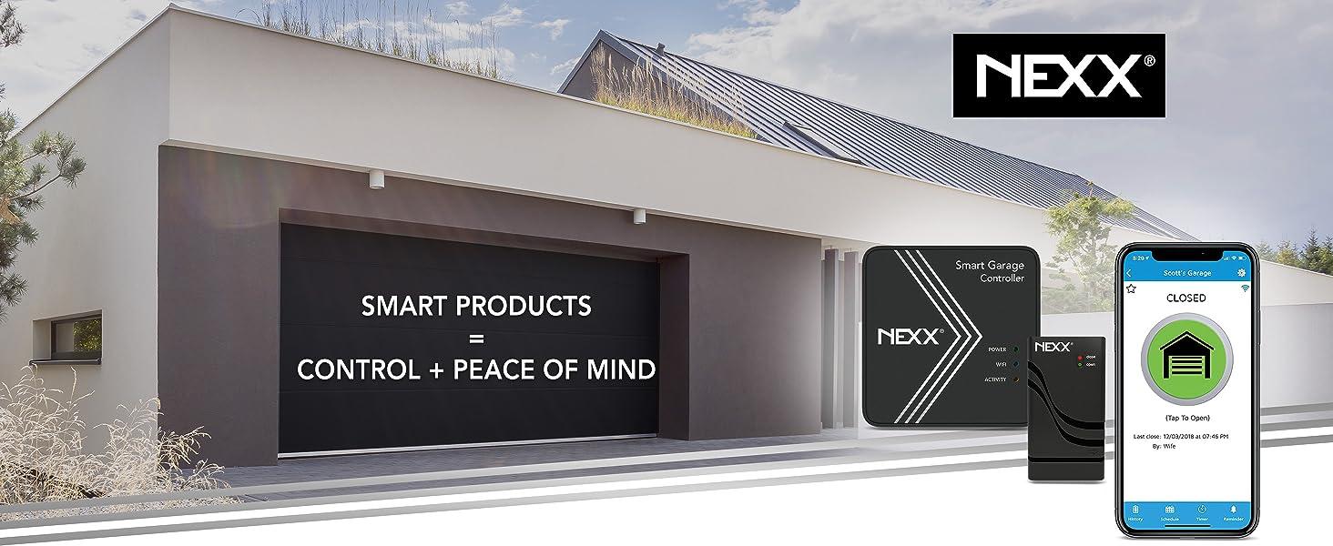 nexx smart garage wifi home automation devices app wireless sensor nxg200 nxg 200 control remotely