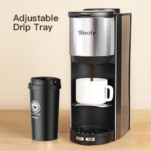Adjustable drip tray