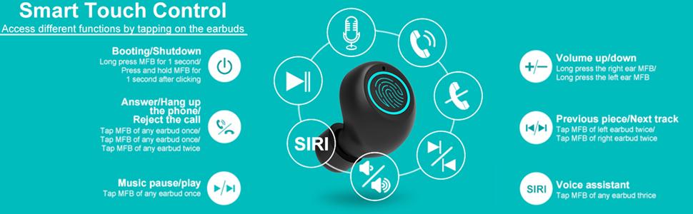 Wireless Earbuds Sports Chstarina Bluetooth 5.1 Earbuds IP7 Waterproof Wireless Headphones