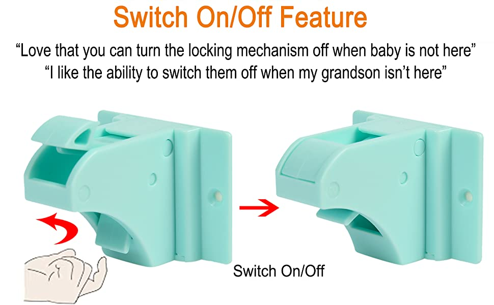 magnetic cabinet locks switch off feature baby proofing