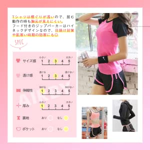 The t-shirt has a shallow neckline, so the chest area is not visible even when bending motion.